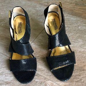 Michael Kors Snakeskin Embossed Leather Sandal